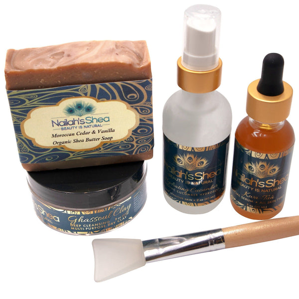Moroccan Ghassoul Set - Cleanse and Condition - Nailah's Shea
