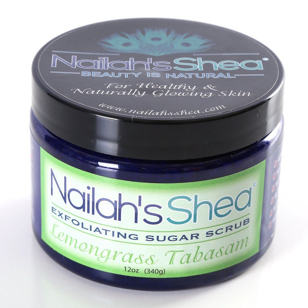 Nailah's Shea LemonGrass Exfoliating Sugar Scrub - Exfoliating Shea Sugar Scrubs - Men - Nailah's Shea
