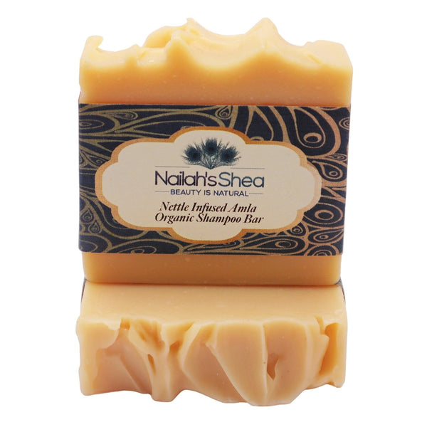 Nettle Infused Amla Organic Shampoo Conditioning Bar - Shea Butter Soap Hand-Crafted - Men - Nailah's Shea