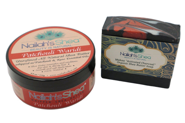 Patchouli and Rose Set - Mens Sets - Nailah's Shea