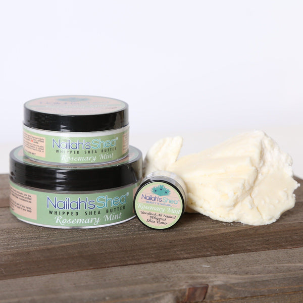 Rosemary and Mint Whipped Shea Body Butter - Mens Butters - Nailah's Shea