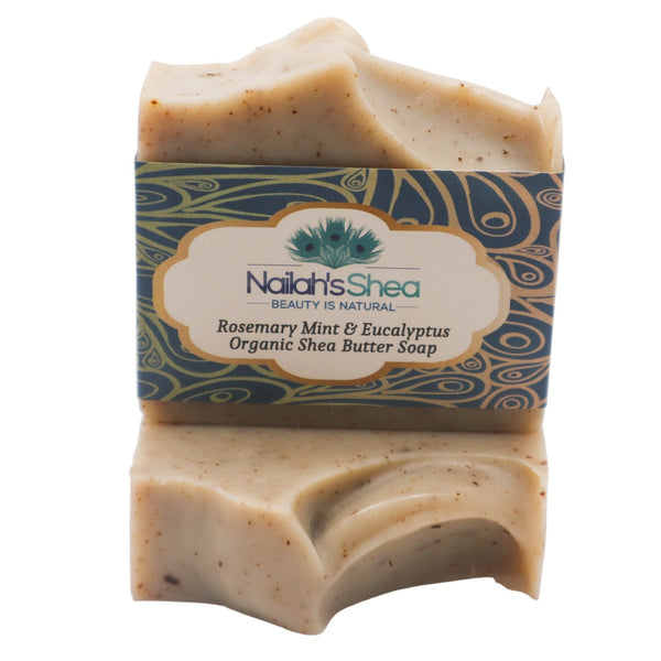 Rosemary Mint & Eucalyptus Shea Butter Soap - Shea Butter Soap Hand-Crafted - Men - Nailah's Shea