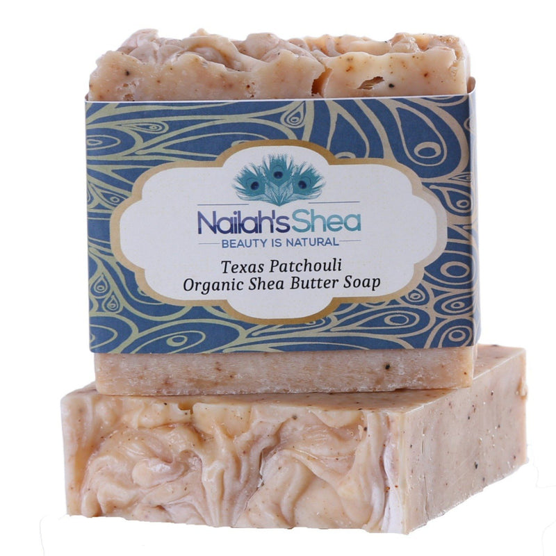 Texas Patchouli Shea Butter Soap - Special Order - Shea Butter Soap Hand-Crafted - Men - Nailah's Shea