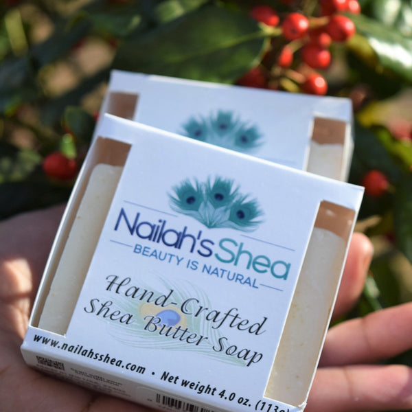 Unscented Oatmeal Shea Butter Soap - Shea Butter Soap Hand-Crafted - Men - Nailah's Shea