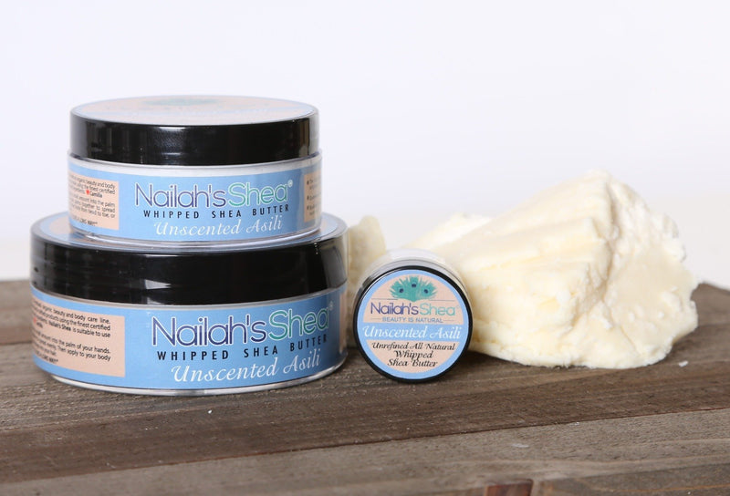 Unscented Whipped Shea Body Butter - Mens Butters - Nailah's Shea