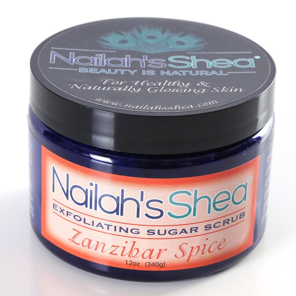 Zanzibar Spice Exfoliating Sugar Scrub - Exfoliating Shea Sugar Scrubs - Men - Nailah's Shea