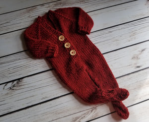 Newborn Footed Jammies Set, Alpaca/Wool