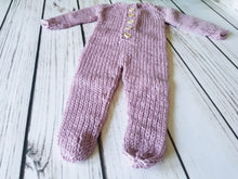 Load image into Gallery viewer, Button-Front Newborn Footed Prop Outfit, Superwash Merino