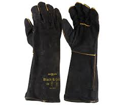 GWB160 - BLACK & GOLD WELD GLOVES