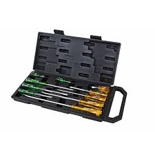 CSDIND10 - 10PC TANG THRU SCREWDRIVER SET