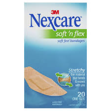 AH010594135 - 3M SOFT N FLEX BANDAID 20PC