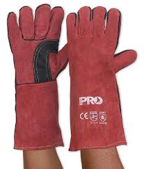 BRW16E - RED WELDER'S GLOVES