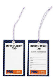 STI12575 - SAFETY INFORMATION TAG 100PK