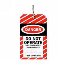 STD12575 - DANGER SAFTEY TAG X100