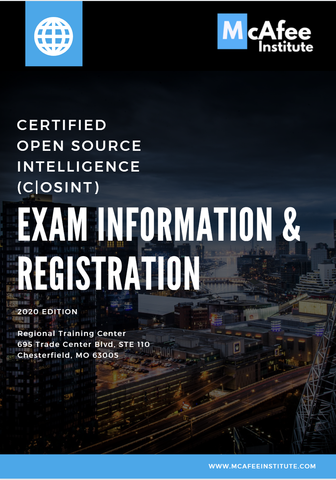 McAfee Institute - open source certification courses
