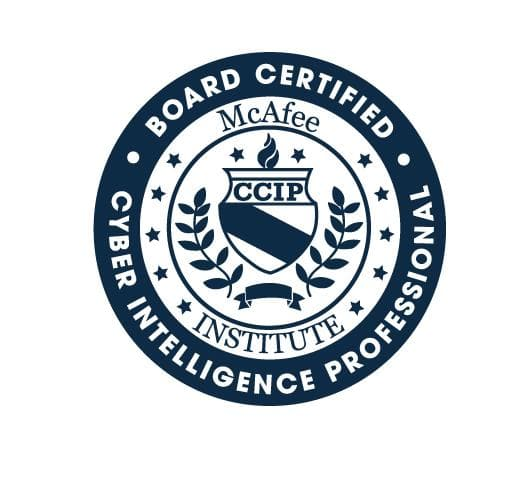 Certified Cyber Intelligence Professional (CCIP) - Residential - McAfee Institute