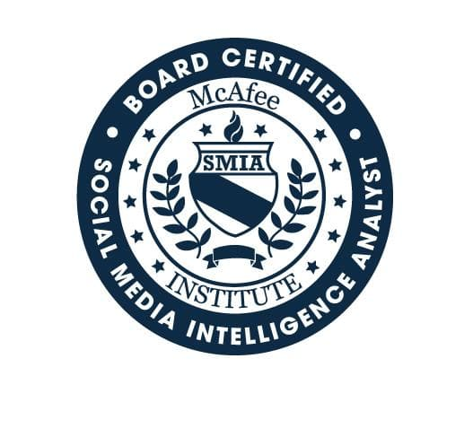 Certified Social Media Intelligence Analyst (SMIA)