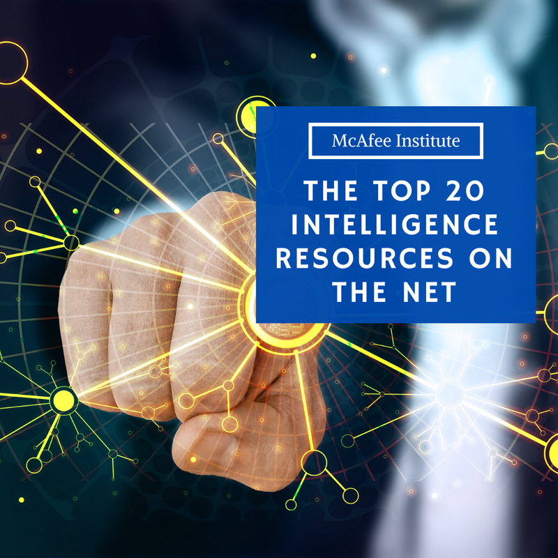 The Top 20  Intelligence Resources on the Net - McAfee Institute