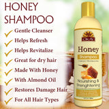 OKAY Honey and Almond Nourishing And Strengthening Shampoo- Helps Refresh, Revitalize, And Strengthen Hair - Sulfate, Silicone, Paraben Free For All Hair Types and Textures - Made in USA 12oz 355m