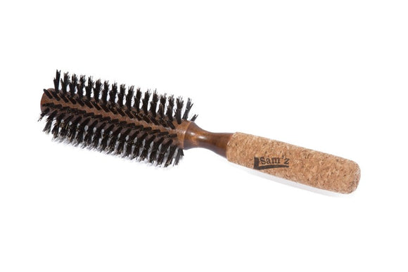 Sam'z Pro Round Brush - Boar & Nylon Bristles - 0.75 inches
