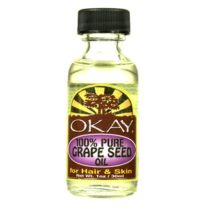 Okay 100% Pure Grape Seed Oil For Hair and Skin, 1 Oz