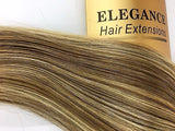 Elegance Hair Extensions. 8. Pcs Clip-in. 22 .Inches.blond with highlights