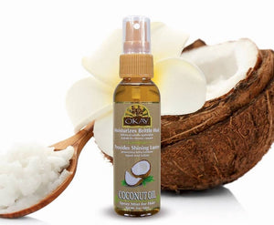 OKAY Coconut OIL Spray Mist Oil For Hair - Leaves Hair With Shining Luster & Soft Feel -Revives Damaged Brittle Hair- Paraben Free For All Skin & Hair Types and Textures - Made in USA 2oz / 59ml
