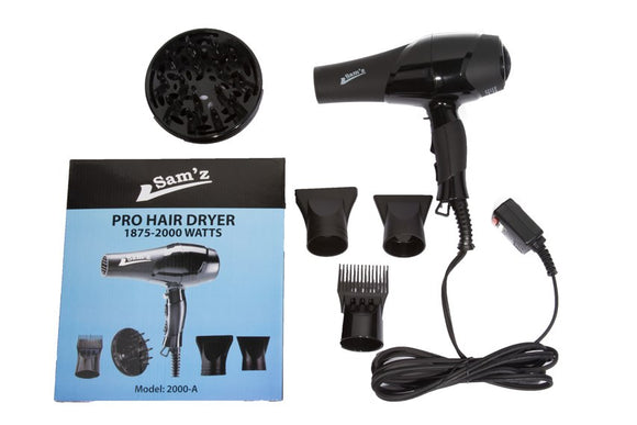 Sam'z Professional Hair Dryer in Black