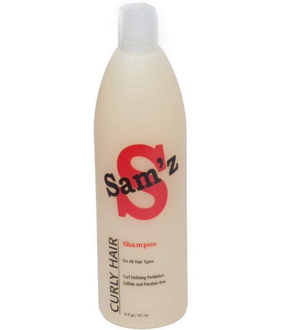 Sam'z Curly Hair Shampoo Sulfate & Paraben Free 16 oz.