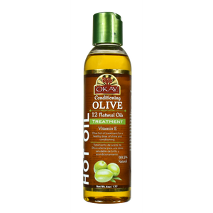 Olive Conditioning Hot Oil Treatment Restores Hair -Nourishes, Smoothes Cuticle-Improves Hair Appearance- Silicone, Paraben Free For All Hair Types and Textures - Made in USA 6oz / 177ml
