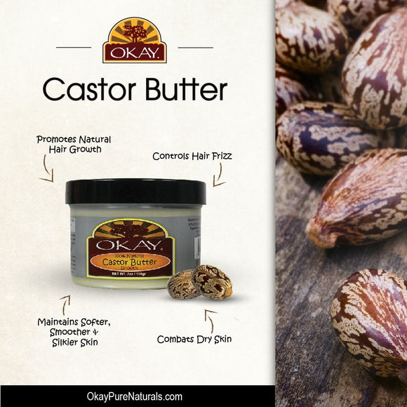 Okay 100% Natural Castor Butter Smooth 7 oz.