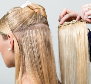 CLIP-ON HAIR EXTENSIONS APPLICATION