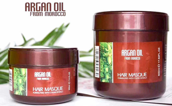 ARGAN OIL HAIR MASK Formulated with Caviar Extract from Morocco  17.62 OZ .500 ML