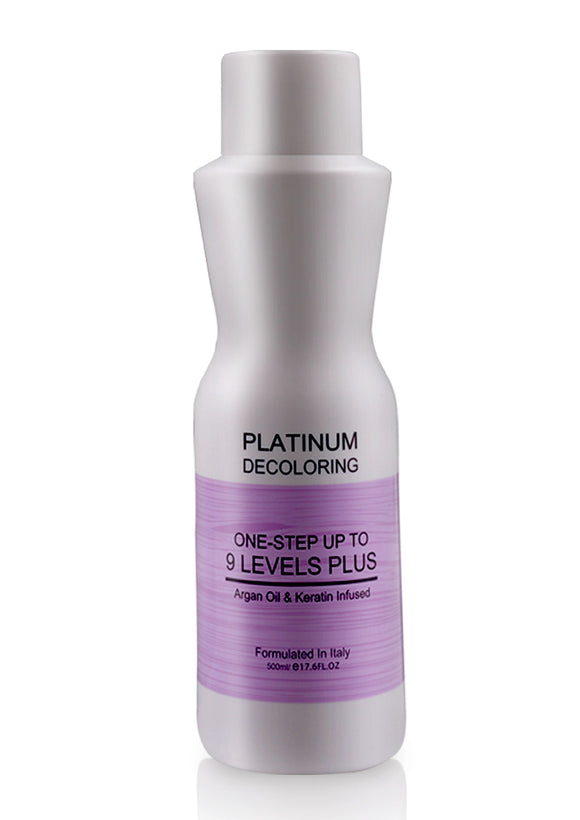 Best Platinum Decoloring Organic Hair Bleach Cream (One-Step up to 9 Levels Plus) - Argan Oil & Keratin Infused 500ml