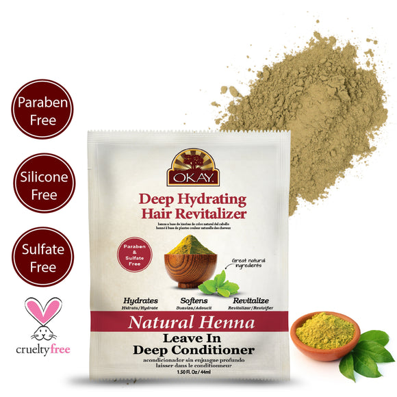 Natural Henna Leave In Conditioner - Helps Refresh, Revitalize, And Add Softness To Hair - Sulfate, Silicone, Paraben Free For All Hair Types and Textures - Made in USA 1.5o