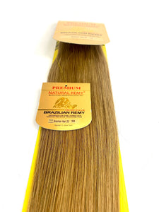 HAIR EXTENSIONS. WEFT .PREMIUM NATURAL .BRAZILIAN REMY . 22 INCH # 10, STRAIGHT.