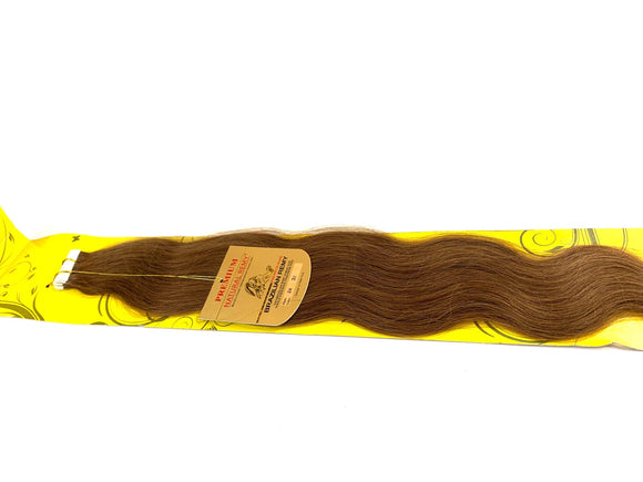 TAPE IN . HAIR EXTENSIONS .PREMIUM NATURAL .BRAZILIAN REMY 24 INCH  # 33
