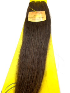 WEFT . HAIR EXTENSIONS .PREMIUM NATURAL .BRAZILIAN REMY 18 .INCH # 4. 100% HUMAN HAIR BRAZILIAN PREMY HAIR . NATURAL REMY