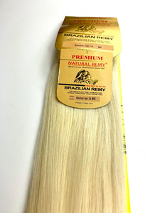 CLIP IN..PREMIUM NATURAL REMY 100% BRAZILIAN HUMAN HAIR TANGLE FREE/SHED FREE/GERM FREE .18.INCH # 60..