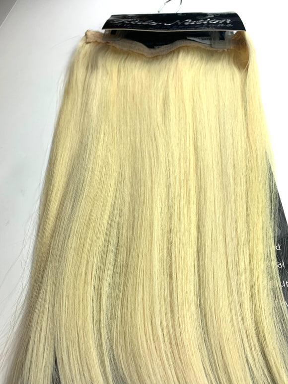 HALO NATION. HAIR EXTENSIONS % 100 REMY HUMAN HAIR. 16-INCH.#F613.
