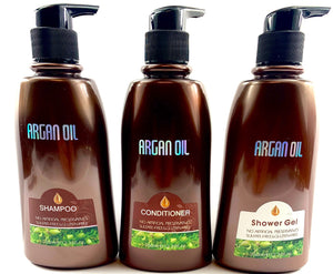 Argan Oil Shampoo, Conditioner & Shower Gel Package 12.32 oz. each