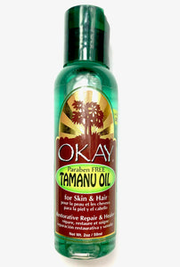 Tamanu Blended Oil for Hair & Skin- Repairs Damaged Skin With Cell Producing & Healing Properties-Excellent For Hair Thickening & Growth- For All Hair Textures And All Skin Types- Paraben Free - Made in USA 2oz / 59ml