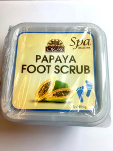 OKAY.Papaya Foot HAND & BODY Scrub - Contains Rejuvenating Enzymes That Promote Healthy Skin- Thoroughly Exfoliates Rough Skin On The Feet, Leaving Feet Velvety Soft & Renewed