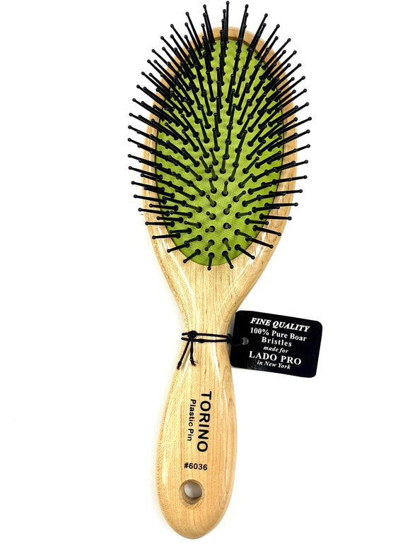 LADO BRUSHES.BEECHWOOD, NYLON BRISTLES IN GREEN CUSHION #6036