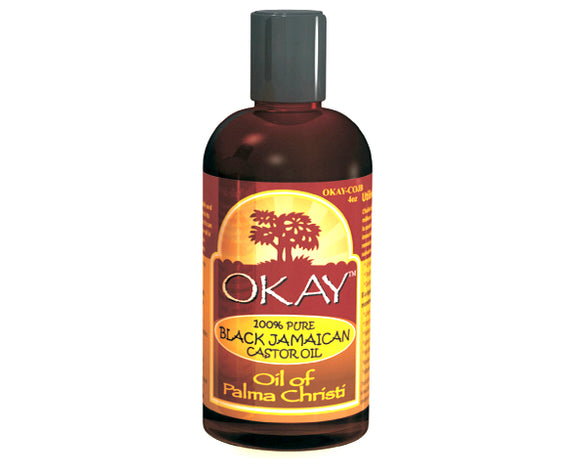 OKAY 100% PURE BLACK JAMAICAN CASTROL OIL OF PALMA CHRISTI 4OZ,118ML
