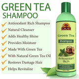 OKAY Green Tea Nourishing Antioxidant Rich Shampoo – Helps Revitalize, Rejuvenate, And Restore Moisture to Hair - Sulfate, Silicone, Paraben Free For All Hair Types and Textures - Made in USA 12oz 355ml