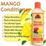 OKAY Mango Revitalizing Anti Breakage Conditioner – Helps Revitalize, Repair, And Restore Moisture to Hair - Sulfate, Silicone, Paraben Free For All Hair Types and Textures - Made in USA 12oz 355ml