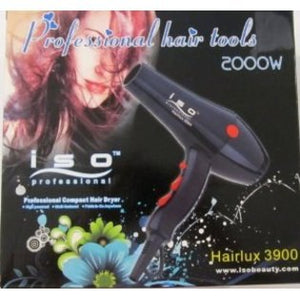 ISO Beauty Professional Compact Blow Dryer Ionic 2000w (Black)