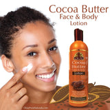 COCOA BUTTER LOTION DEEP RESTORATION & DAILY MOISTURIZER FOR FACE & BODY 16OZ / 473ML
