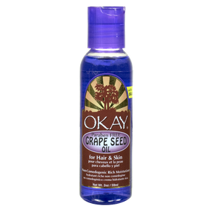 Okay Grape Seed Oil For Hair & Skin Paraben Free, 2 Oz